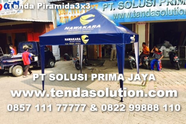 TENDA CAFE PIRAMIDA 3X3 PROMOSI NAWAKARA / TCP 26 tenda_cafe_nawakara