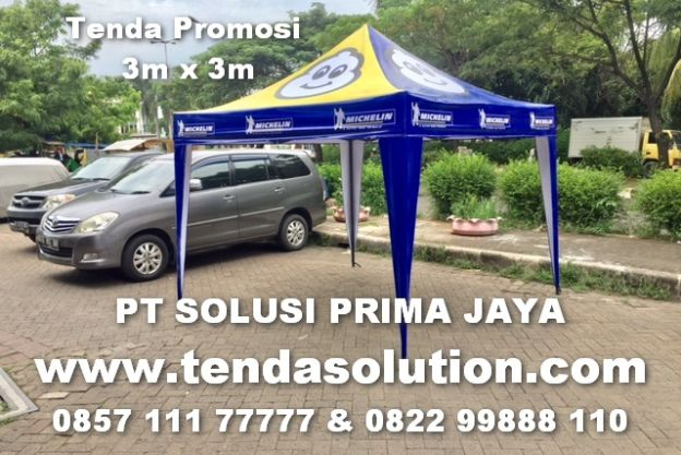 TENDA PROMOSI DESIGN MICHELIN - TP 07 tenda_lipat_3x3_michellin