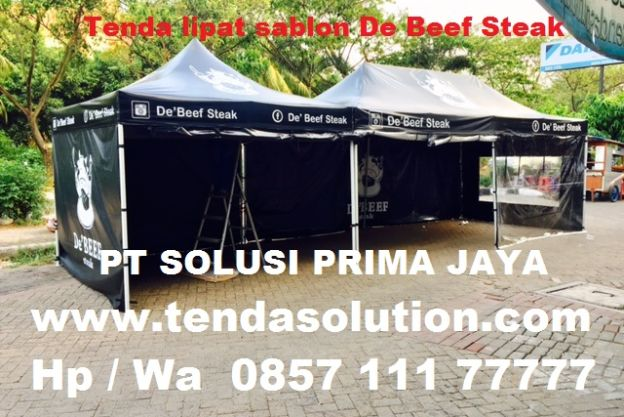 TENDA LIPAT PROMOSI BRANDING DE BEEF STEAK - TP 23 tenda_lipat_debeef_steak