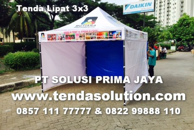 TENDA LIPAT PROMOSI BRANDING DESIGN 3 SISI DINDING - TP 05 tenda_lipat_photo_shop_3x3