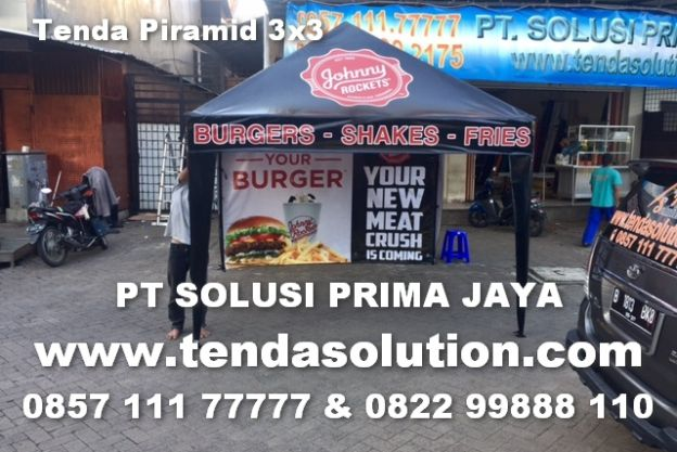 TENDA CAFE PROMOSI JOHNNY ROCKETS - TP 02 tenda_piramida_johnys_roket